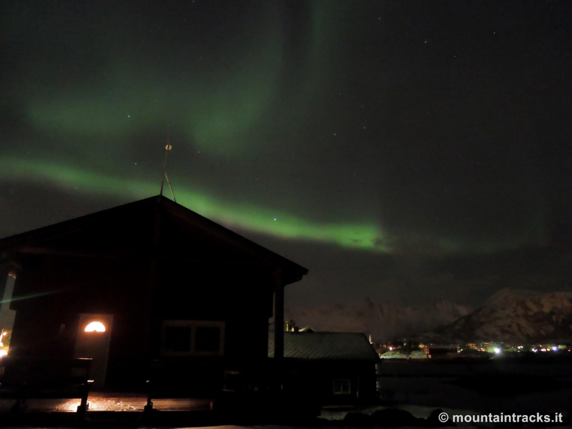 aurora boreale, northern light, lofoten, Kabelvåg