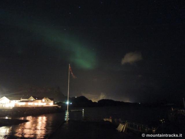 aurora boreale, northern lights, Kabelvåg