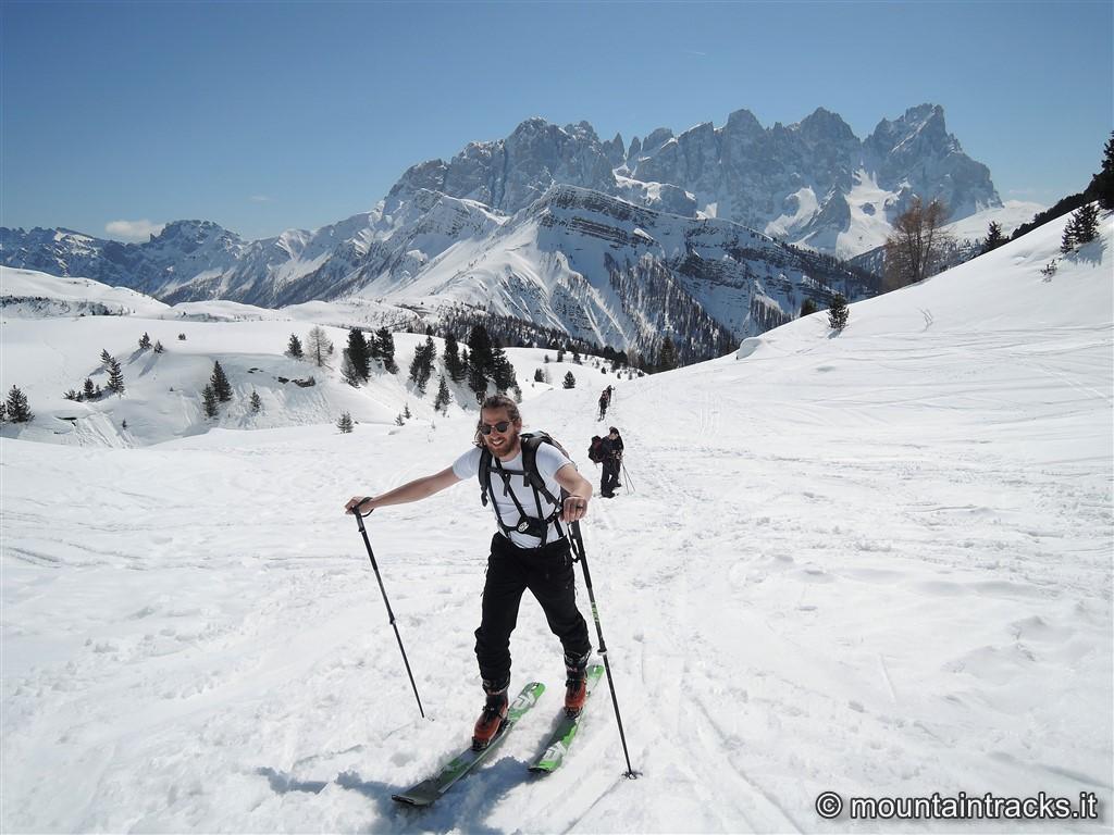 snow dolomites col margherita dolomiti skialp