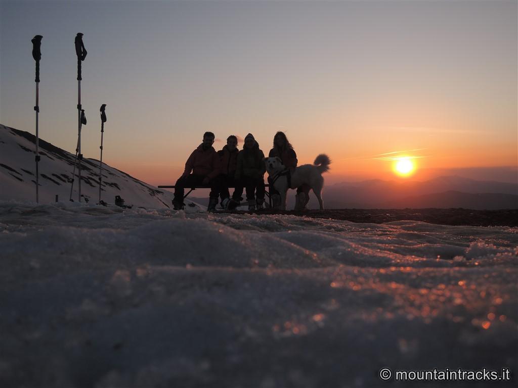 cimone spring skialp evening